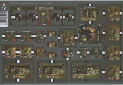 Heroes of Normandie: SS Panzergrenadier Punch Board