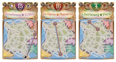 Ticket to Ride Map Collection: France & Old West
