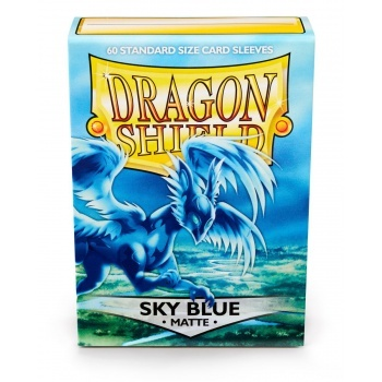Obaly Matte Sky Blue (60ks): Dragon Shield Standard sleeves