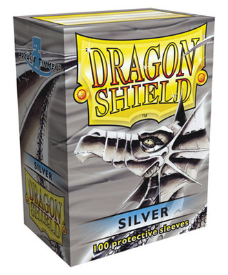 Obaly Dragon Shield standard size - Silver 100 ks