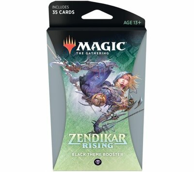 Zendikar Rising Theme Booster Pack BLACK - Magic: The Gathering