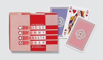 Karty Standard 2x55 kariet (Bridge, Rummy, Canasta, Poker)