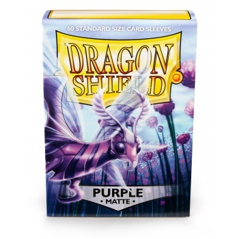 Obaly Matte Purple (60ks): Dragon Shield Standard sleeves