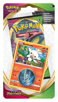 Pokémon: Scorbunny Checklane Blister Vivid Voltage Sword and Shield 4