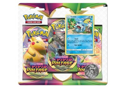 Pokémon: Sobble 3-pack blister Vivid Voltage Sword and Shield 4