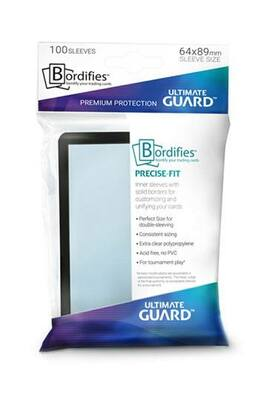 Obaly Ultimate Guard Bordifies Precise-Fit Sleeves Standard Size Black (100ks)