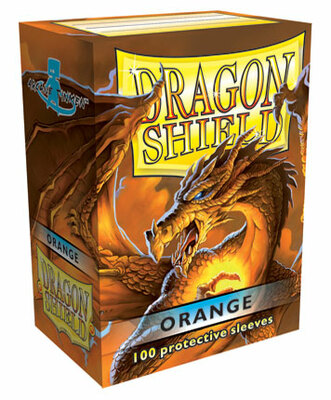 Obaly Dragon Shield standard size  - Orange 100 ks